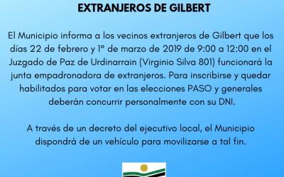 Junta empadronadora de extranjeros de Gilbert