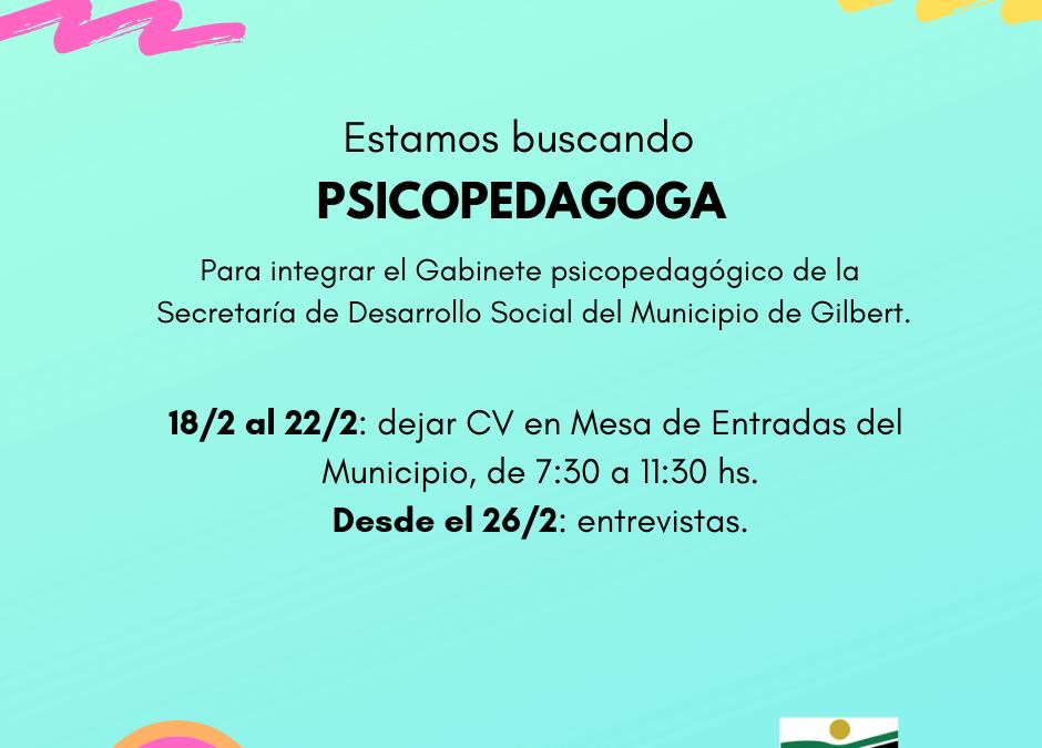 Busqueda Laboral – PSICOPEDAGOGA/O