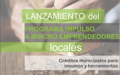 Presentación del programa impulso a microemprendedores