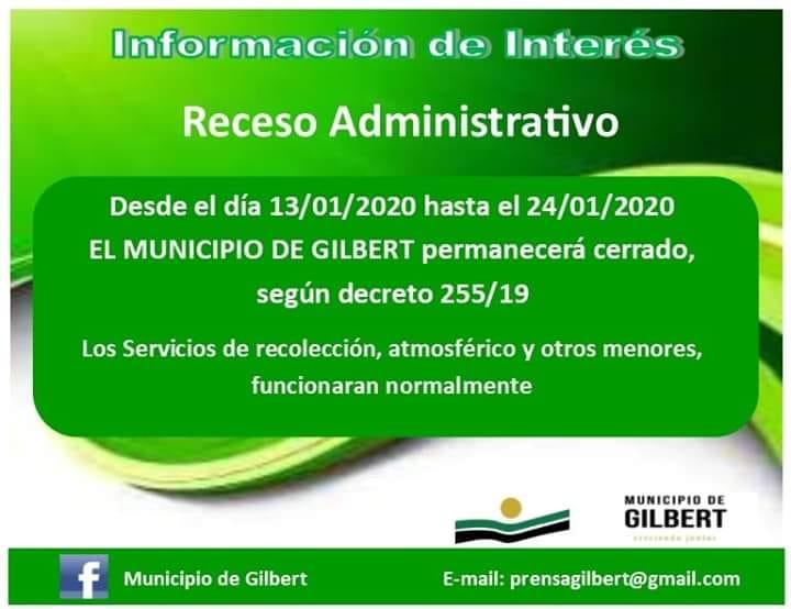 Receso administrativo