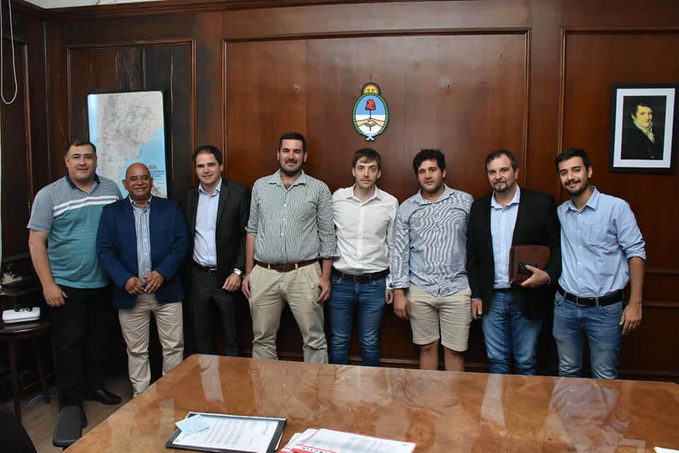 Gestiones en conjunto con Municipio de Larroque en Capital Federal.