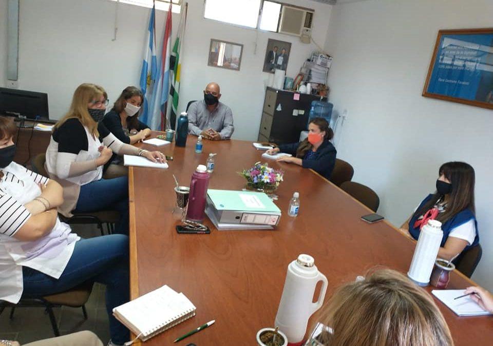 El gabinete psicopedagógico municipal  se reunió con las instituciones educativas locales.