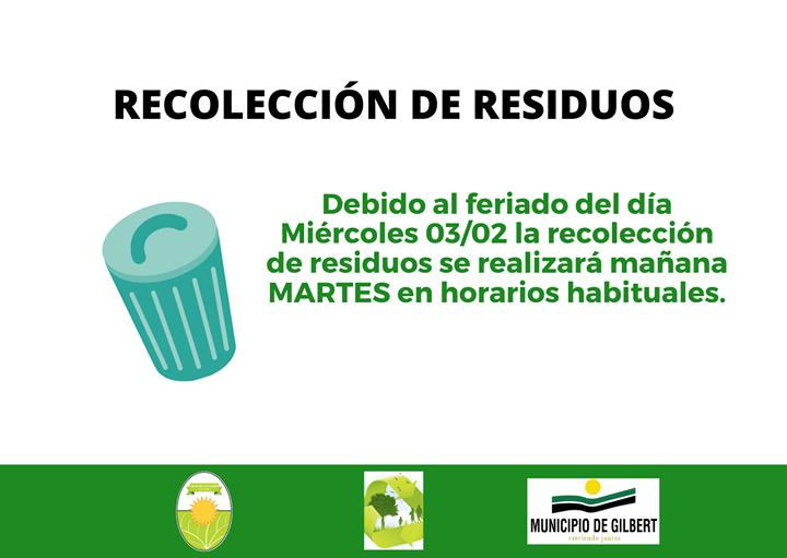 Martes 02/02 recolección de residuos