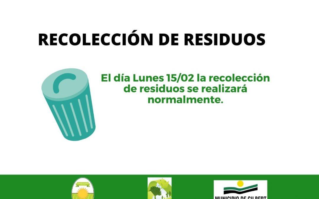 Recolección de Residuos 15/02/2021