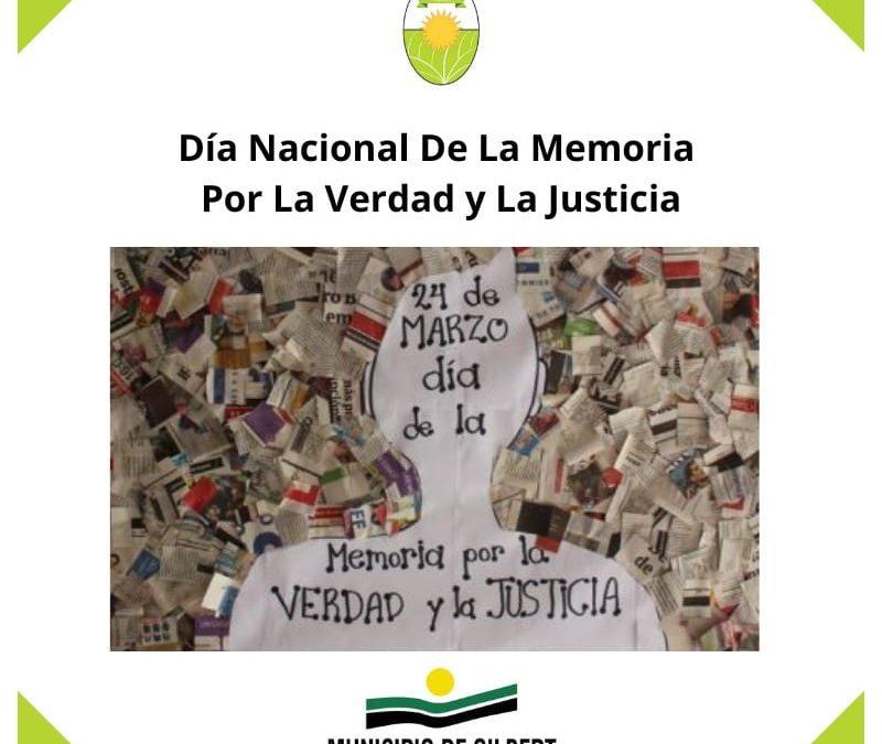 DIA NACIONAL DE LA MEMORIA POR LA VERDAD Y LA JUSTICIA