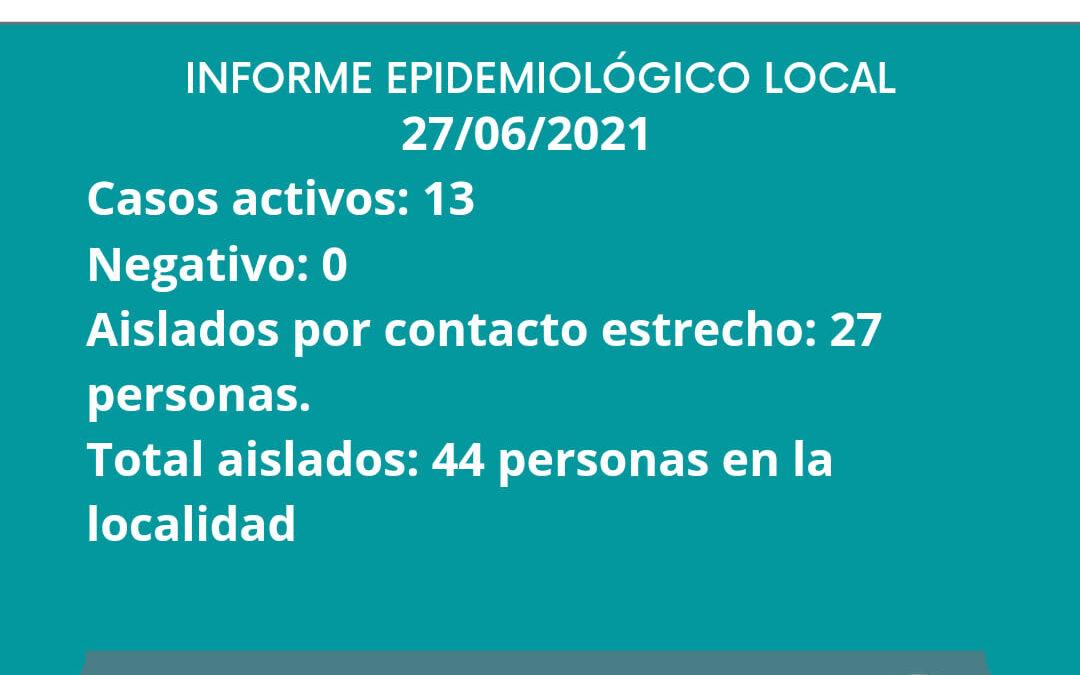 INFORME EPIDEMIOLOGICO GILBERT 27/06/2021