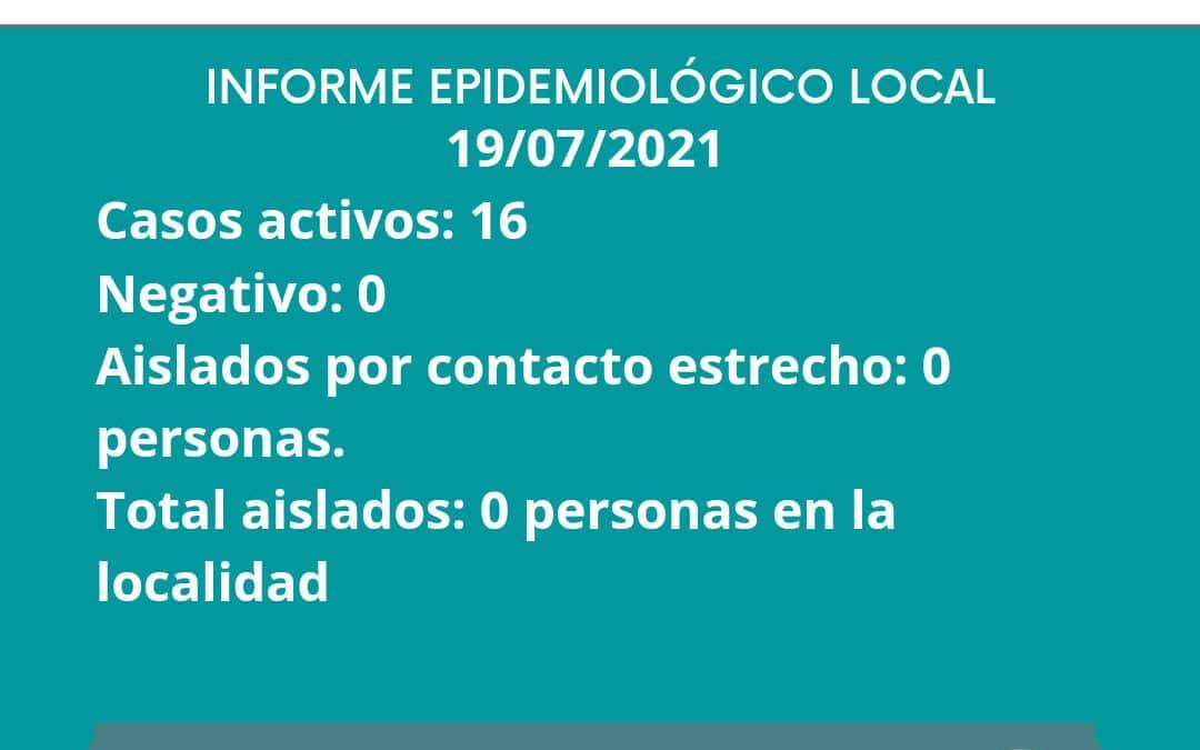 INFORME EPIDEMIOLOGICO GILBERT 19/07/2021