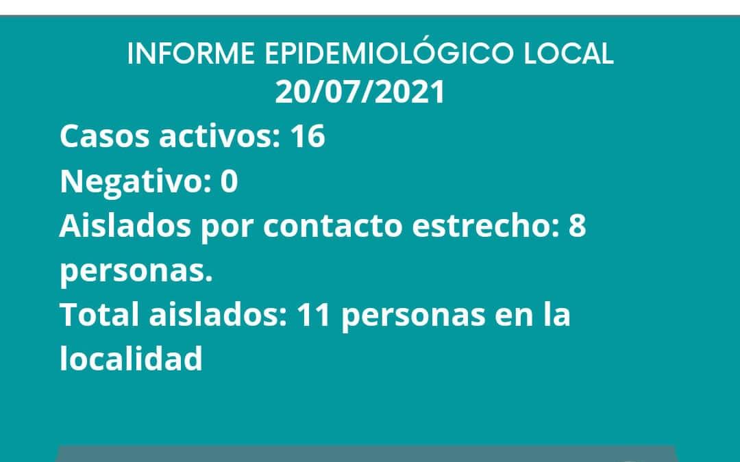 INFORME EPIDEMIOLOGICO GILBERT 20/07/2021