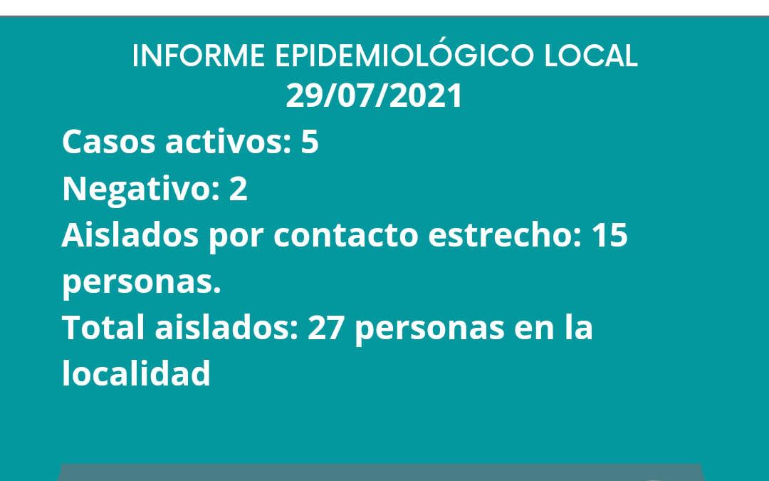 INFORME EPIDEMIOLOGICO GILBERT 29/07/2021
